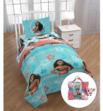 Disney Moana Twin Bed in a Bag Bedding Set with Bonus Tote and Pillow Buddy