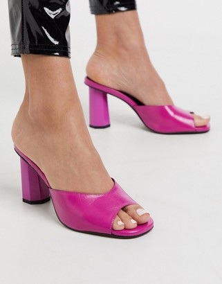 CHIO heeled mules in pink leather