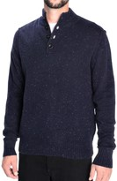 Toscano Flecked Mock Neck Pullover Sweater - Lambswool Blend (For Men)