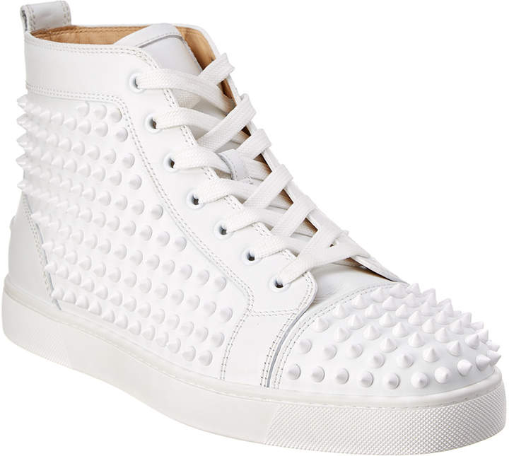 quality design 05be3 b6620 Louis Spike Leather High Top Sneaker
