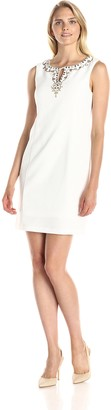 Sandra Darren Women's Sleeveless Darby Dress with Embellishment