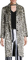 Nina Ricci Leopard-Print Three-Button Coat