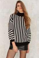 Factory Few Moda The Right Puff Striped Sweater