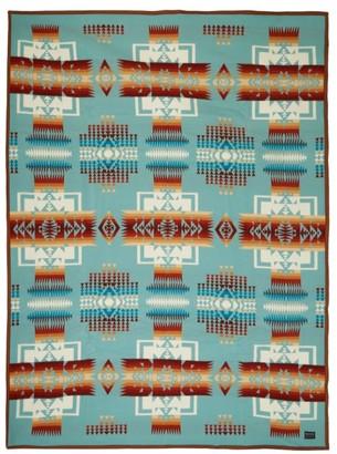 Pendleton Chief Joseph Wool And Cotton-blend Blanket - Multi