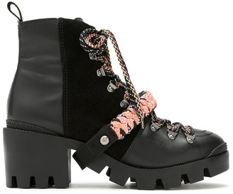 Schutz Tonal Panels Lace-Up Boots