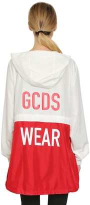 GCDS Hooded Zip Off Anorak Jacket