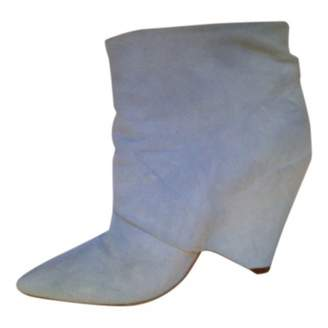 Maison Margiela \N Blue Suede Ankle boots