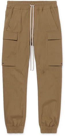 Rick Owens Slim-Fit Tapered Cotton-Blend Cargo Trousers