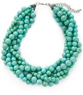 Kenneth Jay Lane Women's Twisted Bead Station Necklace