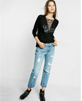 Express one eleven lace-up weekend tee