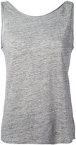 Theory scoop back tank top - women - Linen/Flax - XS