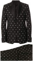 Givenchy silm silver star suit
