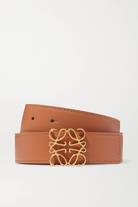 Loewe Embellished Leather Belt - Tan