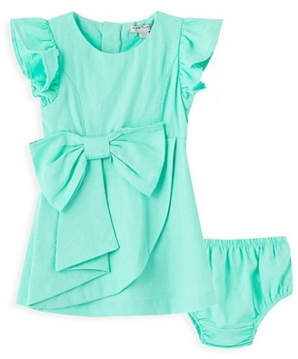 Habitual Baby Girl's Faux-Wrap Bow Dress & Bloomer Set