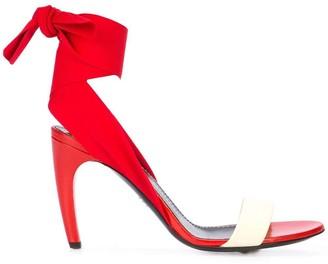 Proenza Schouler Ankle Tie Curved Heel Sandals