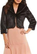 Alex Marie Winn Faux Fur Cropped Jacket