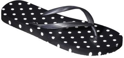 Women's Letty Flip Flop - Black Polka Dot