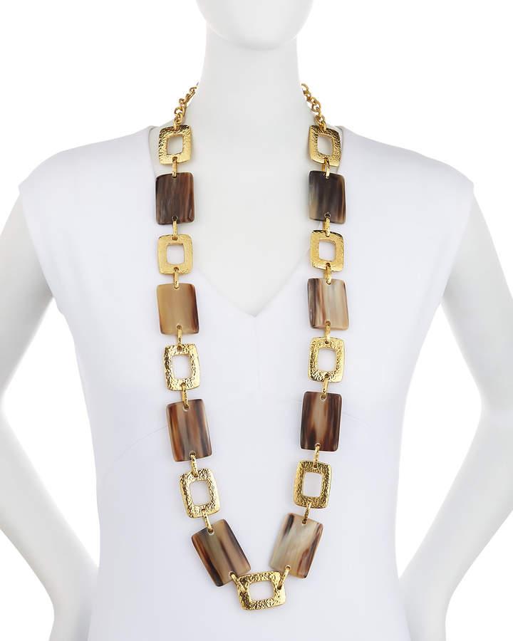Ashley Pittman Bustani Light Horn Link Necklace