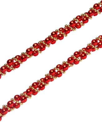Kurt Adler 9Ft Red & Gold Beads Twisted Garland Set Of 3