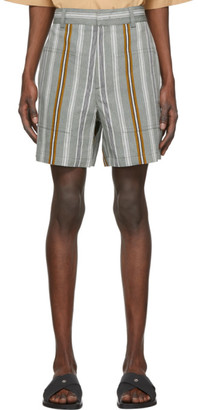 Jil Sander Multicolor Linen Stripe Shorts