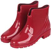 Jumiti JUMITI Women's Cold Weather Boots red - Red Shiny Short Rain Boot - Women