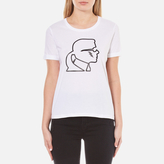 Karl Lagerfeld Women's Lightning Bolt TShirt - White