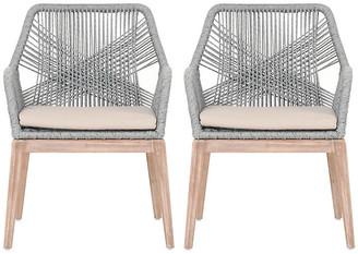 One Kings Lane Set of 2 Easton Armchairs - Platinum
