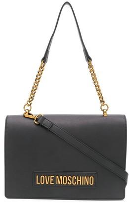 Love Moschino Logo-Plaque Shoulder Bag