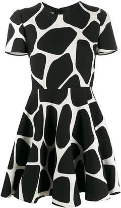 Valentino animal print flared mini-dress