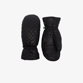 Goldbergh Black Boxer Quilted Leather Ski Gloves