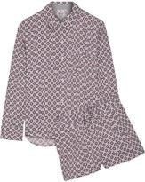 DKNY Printed Satin Pajama Set - Lilac