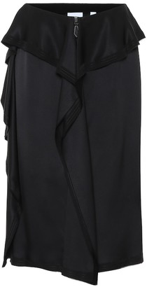 Burberry Silk midi skirt