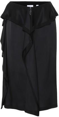 Burberry Silk midi skirt
