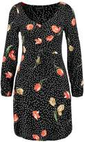 Dorothy Perkins SPOT TEA FIT AND FLARE Day dress black