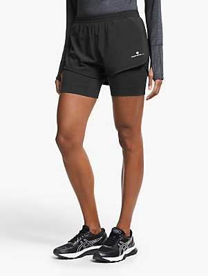 Ronhill Stride Twin Shorts, Grey