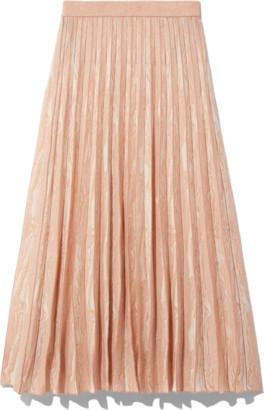 Proenza Schouler Woodgrain Jacquard Skirt in Off White/Tan