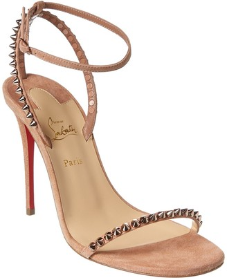 Christian Louboutin So Me 100 Suede Sandal