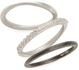 Armenta Women's New World Set Of Three Stacking Rings