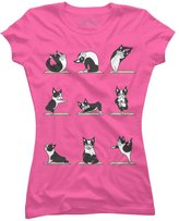 Boston Terriers Yoga Women's Graphic T Shirt - Design By Humans