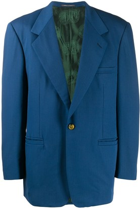 Versace Pre Owned 1980's Notched Lapel Structured Blazer