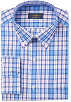 Club Room Men's Estate Classic/Regular Fit Wrinkle Resistant Pink Navy Plaid Dress Shirt, Only at Macy's