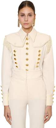 Alberta Ferretti Stretch Techno Gabardine Jacket