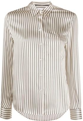 Calvin Klein Striped Slim-Fit Silk Shirt