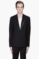 Kris Van Assche KRISVANASSCHE Black Wool Twill zippered Blazer
