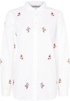 Tu clothing White Embroidered Poplin Shirt