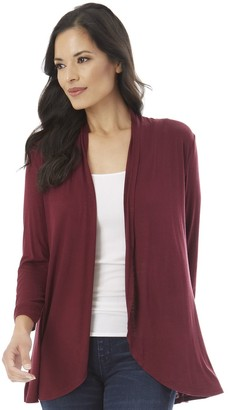Apt. 9 Women's Ruched Sleeve Open-Front Cardigan