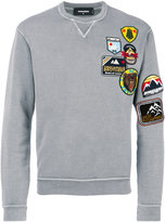 DSQUARED2 patch detail sweatshirt