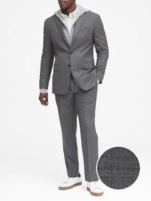 Banana Republic Standard Italian Wool Sharkskin Suit Jacket