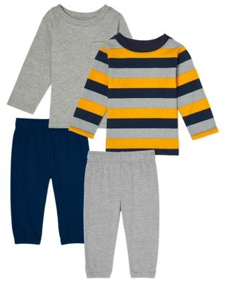 Garanimals Baby Boy Long Sleeve T-Shirt & Jersey Joggers Outfit Set, 4pc