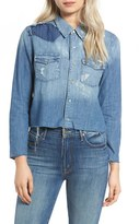 Mother Women's Super Ex's Crop Denim Shirt